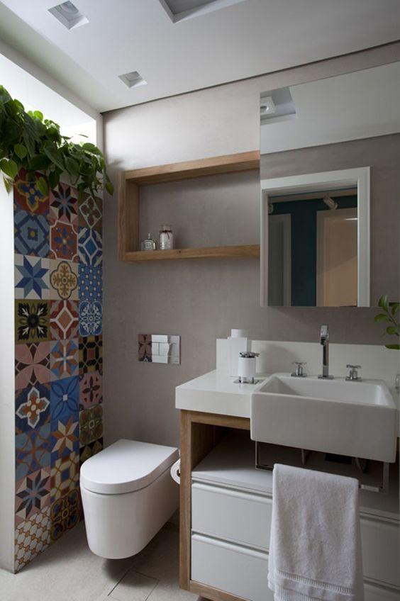Jeito de Casa  Blog de Decoração Ideias para construir ou reformar seu banh -> Ideias Criativas Para Armario De Banheiro