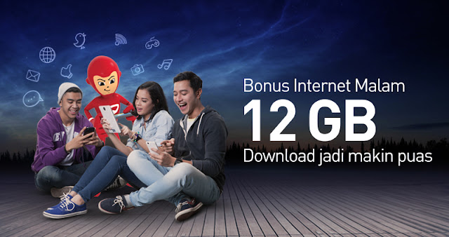 Internet Malam Indosat, Smartfren, Tri, XL, Axis, Telkomsel