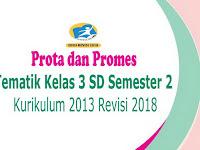 Prota dan Promes Tematik Kelas 3 SD Kurikulum 2013 Revisi 2018 Semester 2