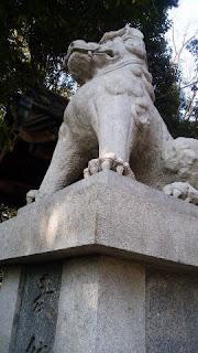 青梅市の神社 住吉神社 狛犬