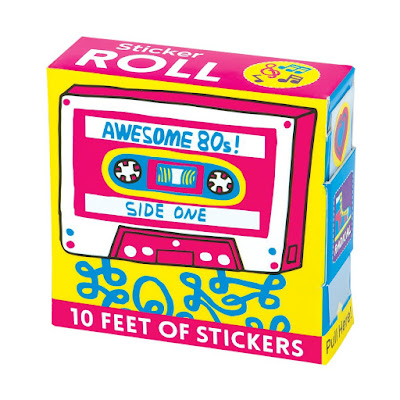 Big roll of awesome 80s stickers