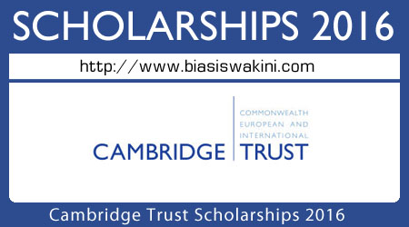 Cambridge Trust Scholarship 2016