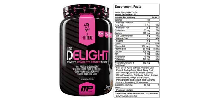 Batido de proteínas Delight que aporta whey protein para mujeres