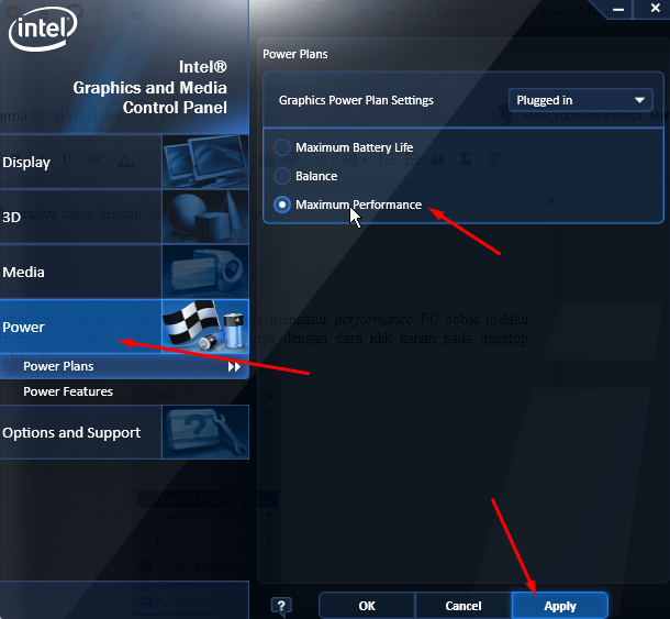 Intel Graphics & Media Control Panel