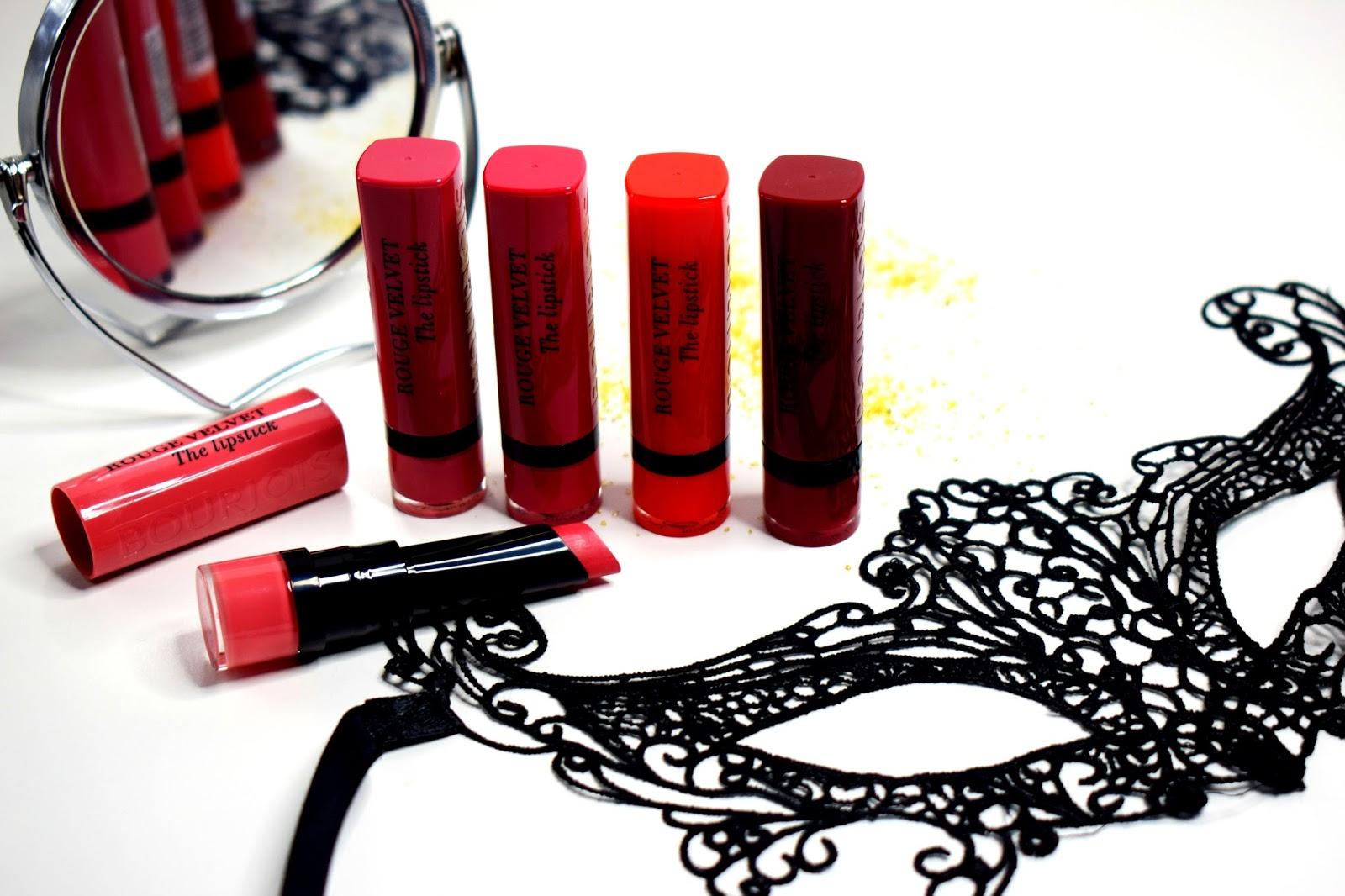 Swatche pomadek Bourjois Rouge Edition Velvet