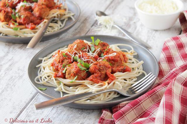 Low-FODMAP Instant Pot Italian Meatballs for Spaghetti  /  Delicious as it Looks