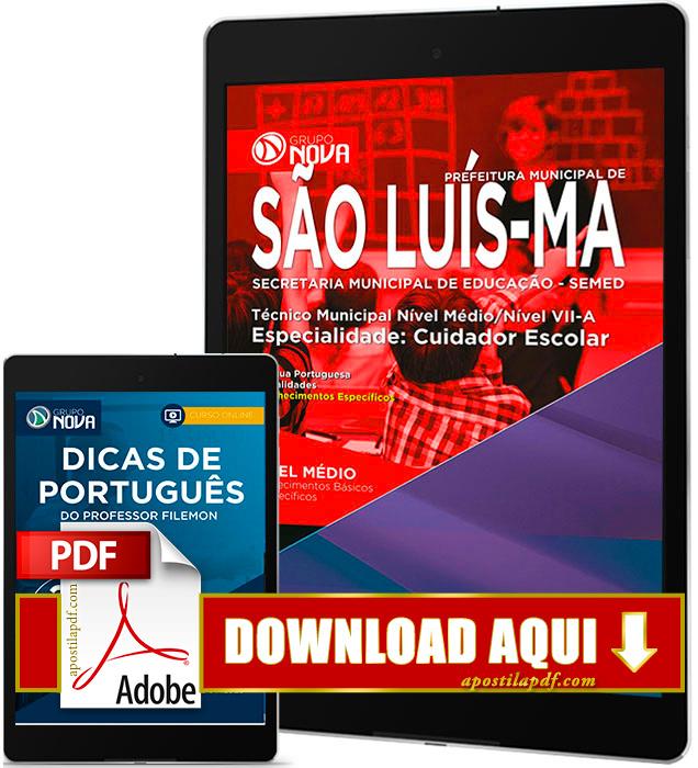 Apostila SEMED 2016 PDF Download São Luís Cuidador Escolar