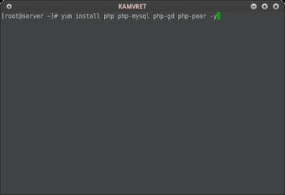 Pertama install php5 di CentOS dengan modul php sederhana atau minimal