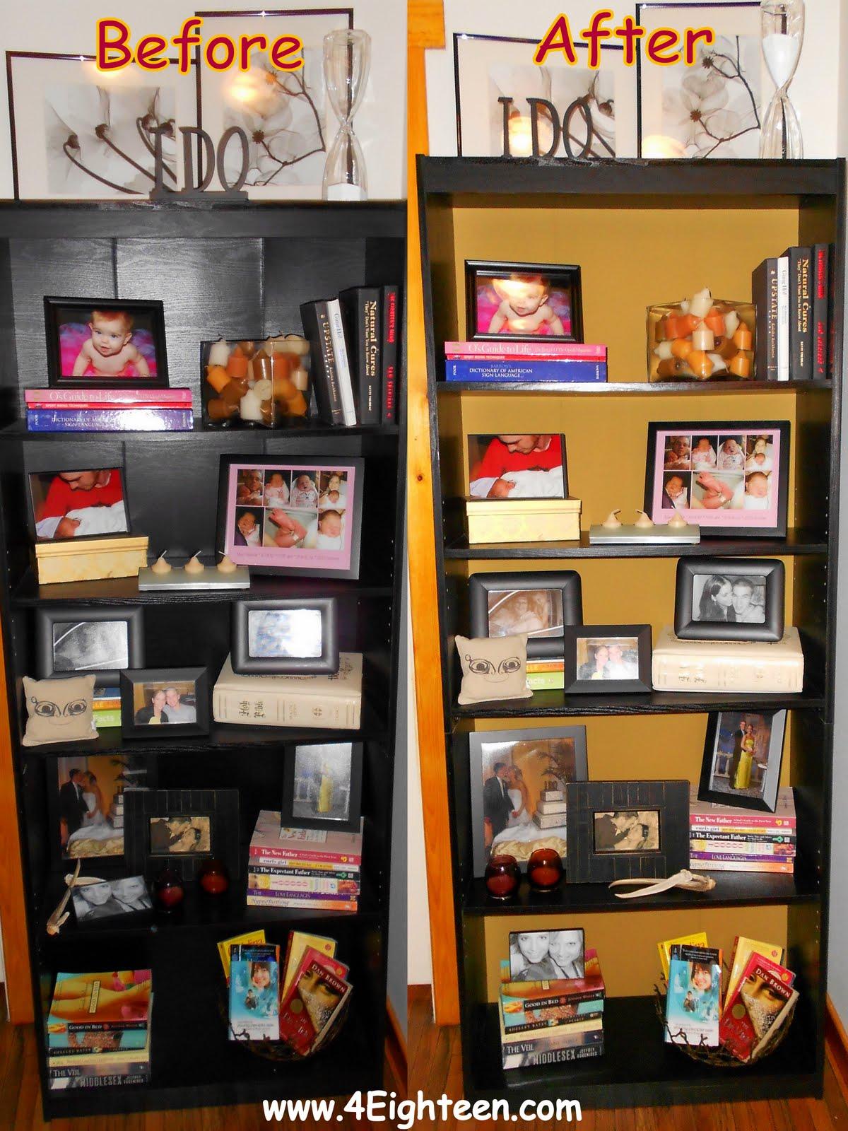 4eighteen Bookshelf Makeover