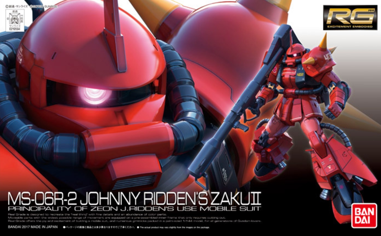 RG 1/144 Johnny Ridden's MS-06R-2 Zaku II High Mobility Type Box art