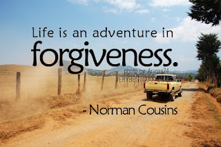 Life is an adventure in forgiveness - best life quotes