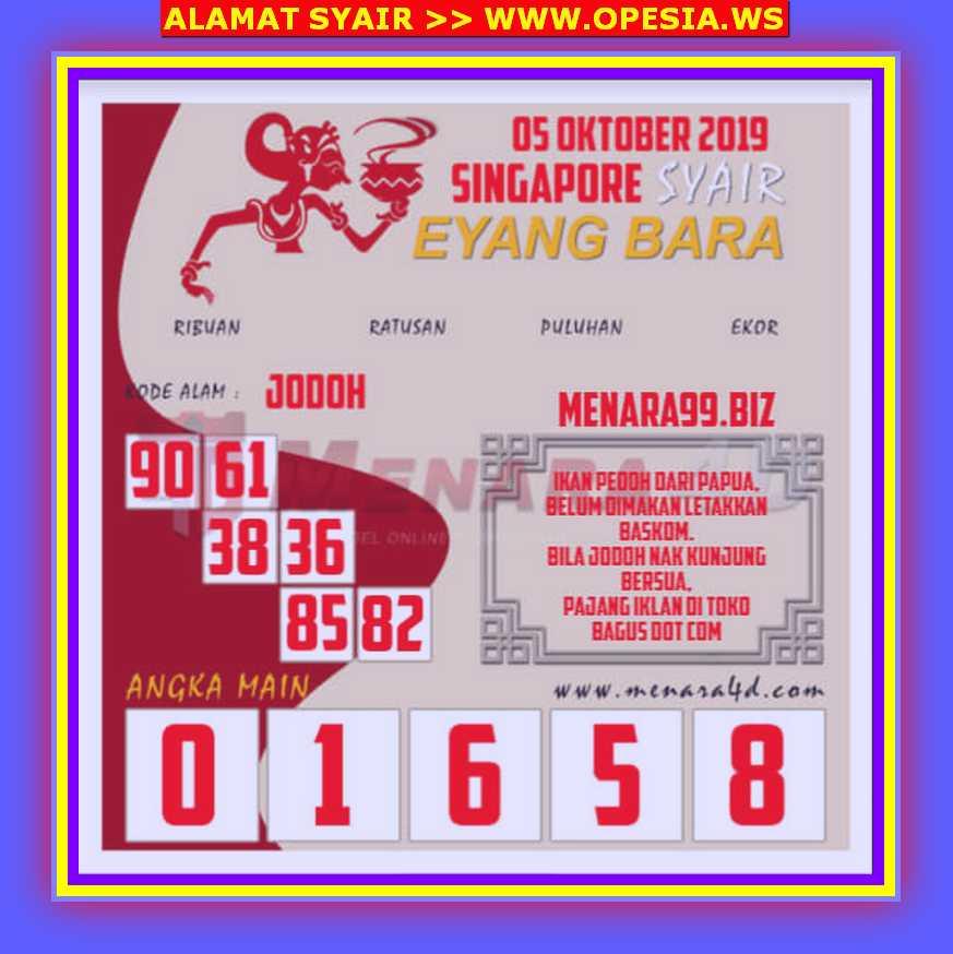 Kode syair Singapore Sabtu 5 Oktober 2019 69