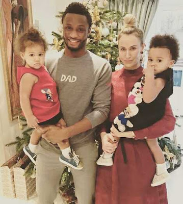 Mikel Obi Mourns as He Loses His Russian Girlfriend, Olga's Father to Death