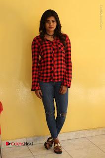 Actress Hebah Patel Stills in Blue Denim Jeans at Nanna Nenu Naa Boyfriends Movie Success Meet  0090.JPG