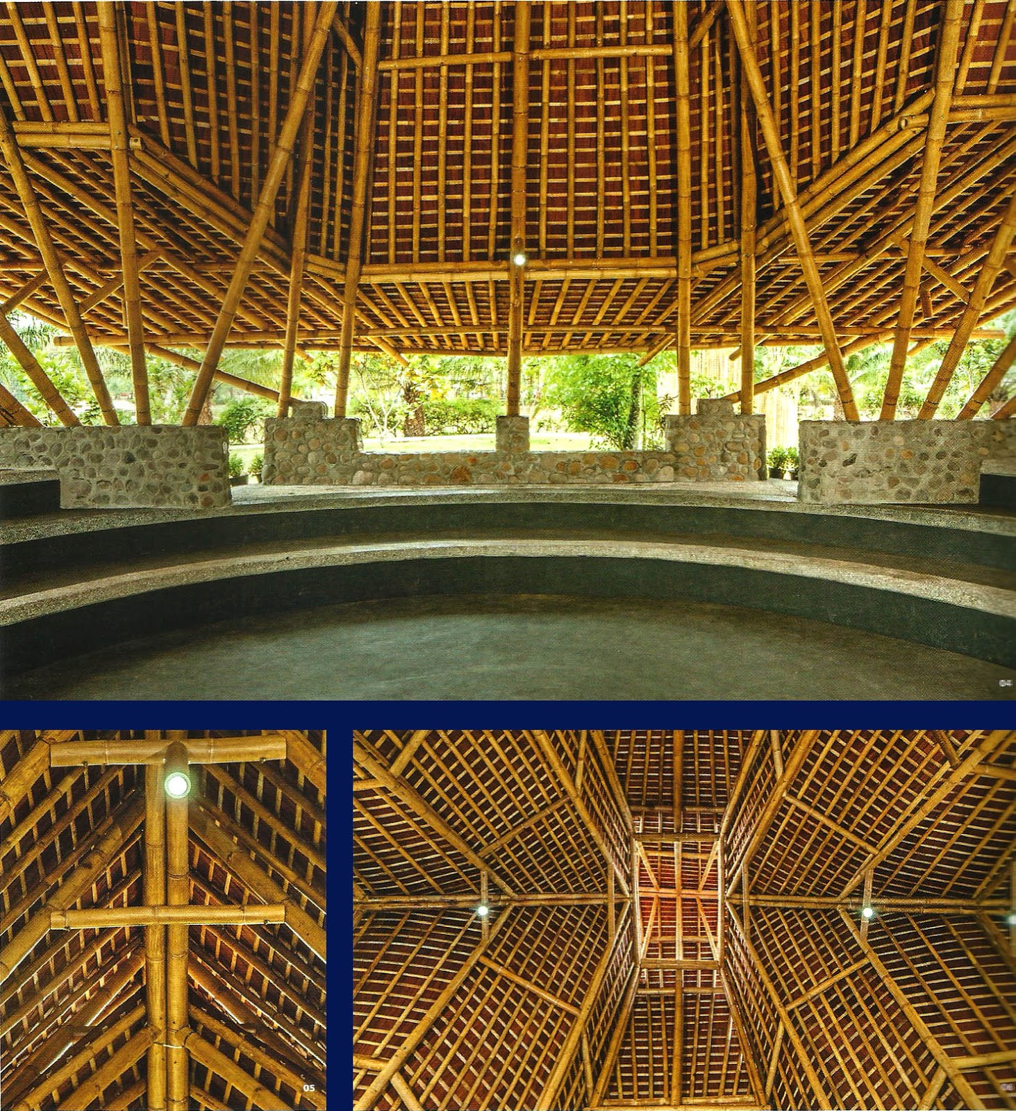 Atraksi Seni Dalam Ruang Bambu