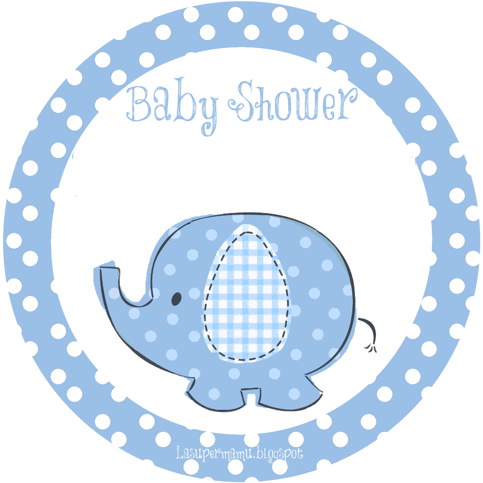 La Super Mamy: Baby Shower: elefantito azul