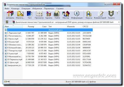 WinRAR 5.50 Final - Содержимое архива