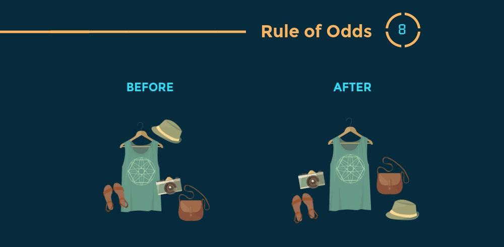 12 Prinsip Hierarki Visual Desain Grafis - Rule of Odds