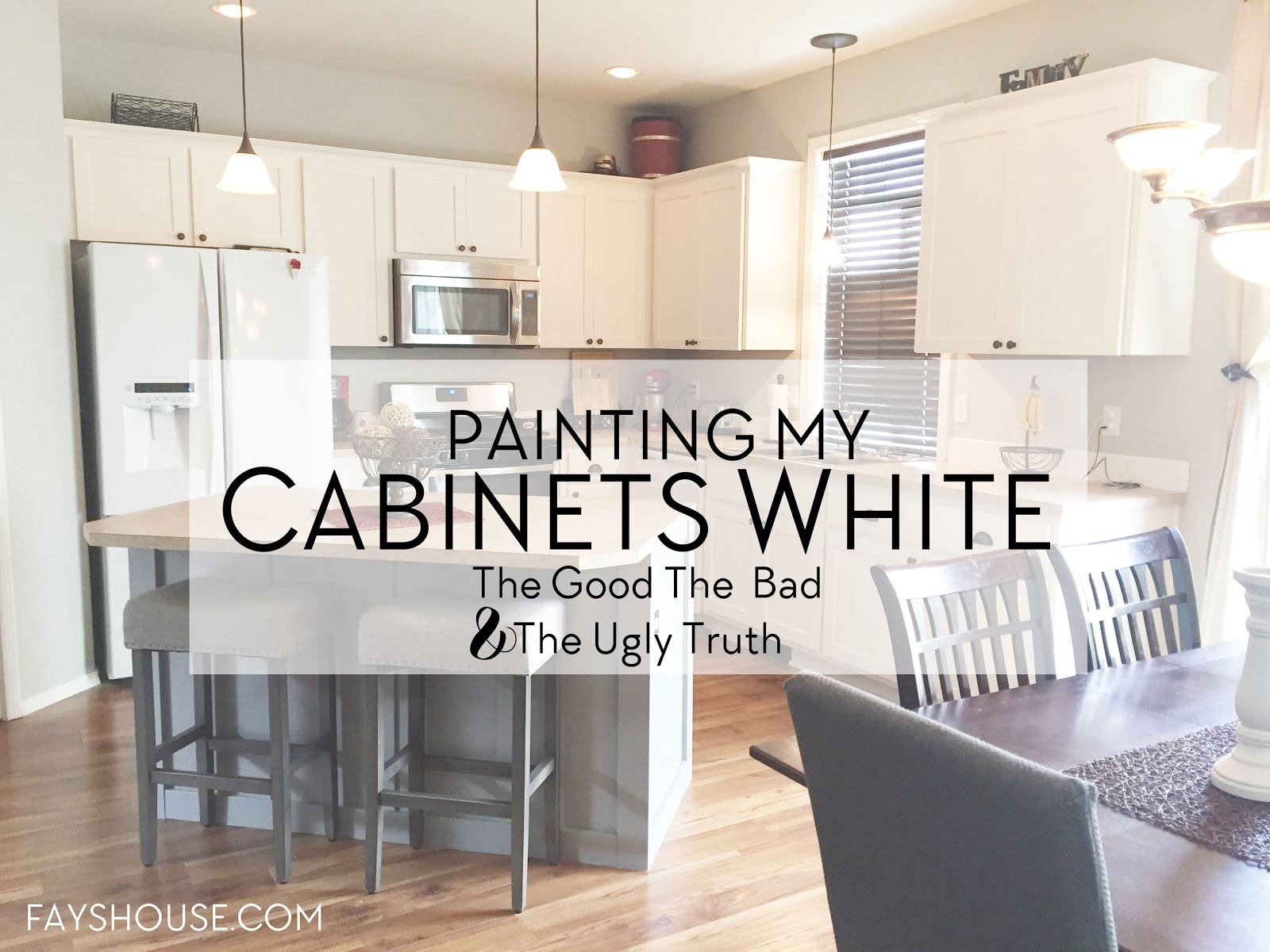 Painted Kitchen Cabinets - Fay\'s House