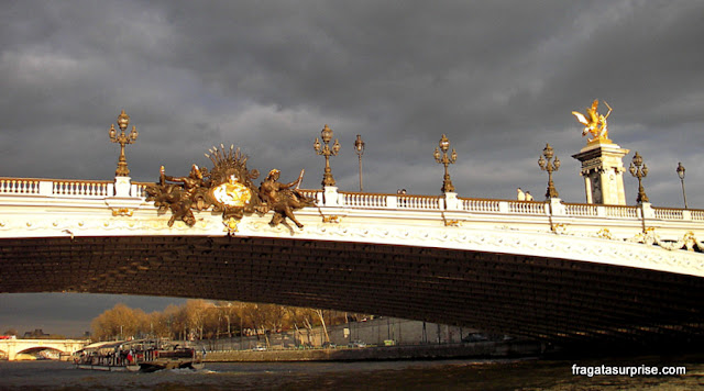Passeios de barco pelo Rio Sena, Paris, Ponte Alexandre III