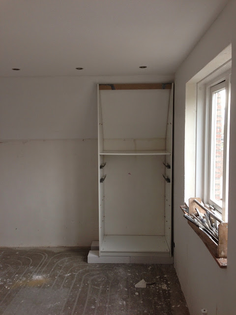 IKEA PAX fitted wardrobe for sloping ceiling