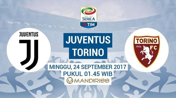 Juventus akan menjamu Torino di Allianz Stadium pada pekan keenam Serie A Berita Terhangat Prediksi Bola : Juventus Vs Torino , Minggu 24 September 2017 Pukul 01.45 WIB