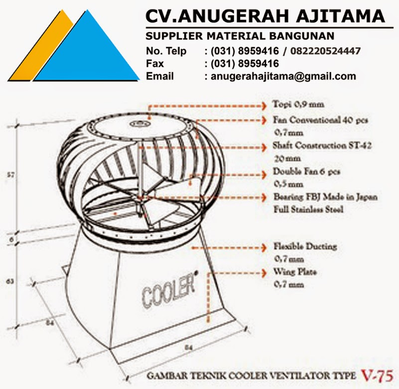 TURBINE VENTILATOR COOLER TYPE V-75