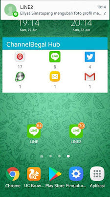 Download Line Mod (LINE2) v7.6.2 Apk Terbaru Clone Free Sticker