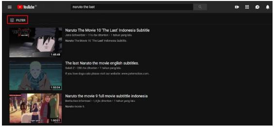 Cara Mencari Film atau Video Berdurasi Panjang di YouTube