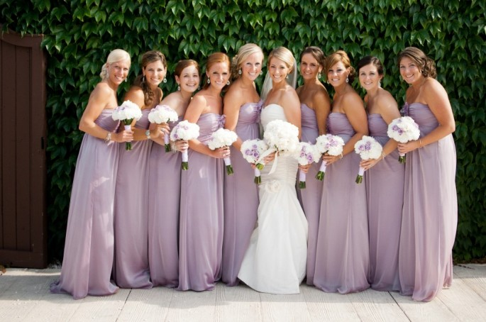 Real Weddings By Color: Dress To Surprise: Those Bridesmaids Dresses I Love