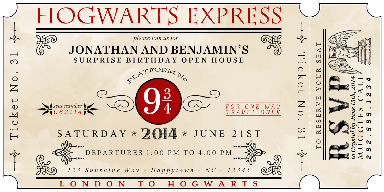 A Well Feathered Nest Harry Potter Party The Invitations