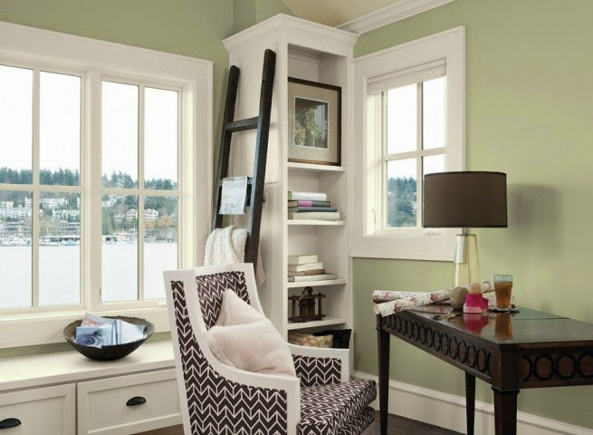 vintage wall paint ideas for home office