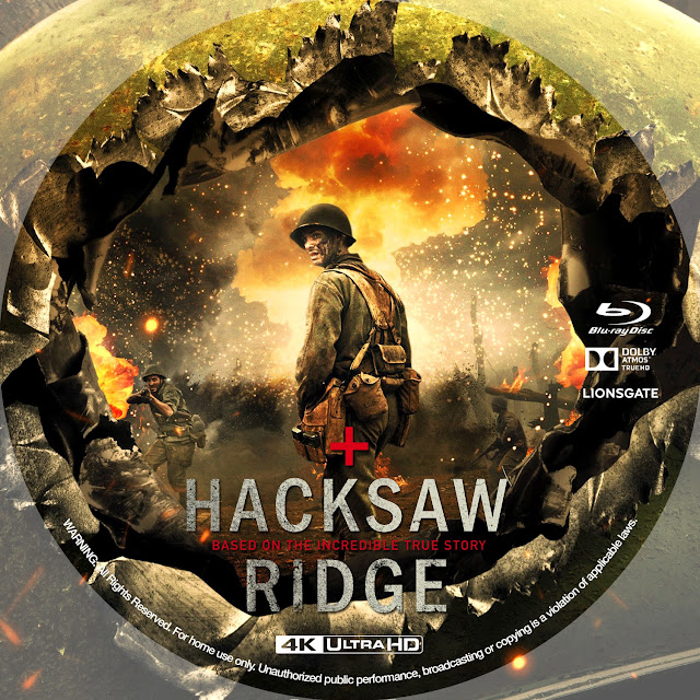 Hacksaw Ridge 4k Bluray Label