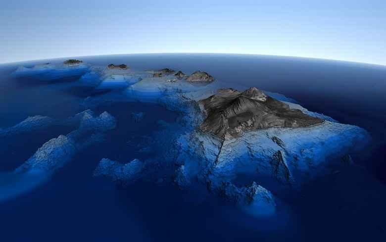 7 Gunung Merapi Bawah Laut Tertinggi di Dunia