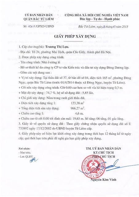 GPXD chung cư mini Minh Đại Lộc 1