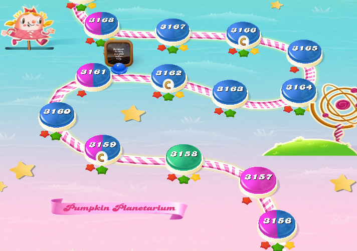 Candy Crush Saga level 3156-3170