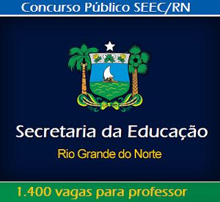 apostila Secretaria da Educação do RN professor concurso SEEC Rio Grande do Norte, suporte pedagógico.