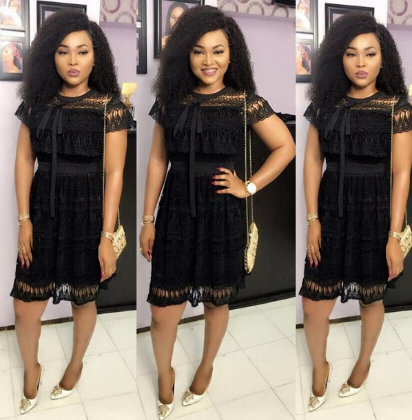 Mercy Aigbe steps out in beautiful sheer black dress