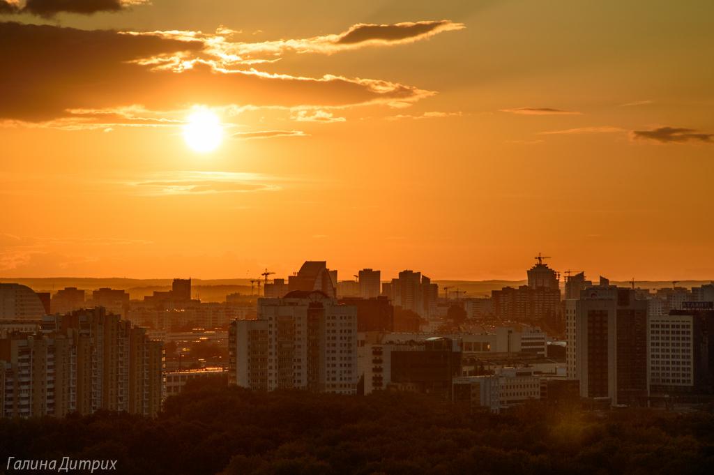 Минск закат фото