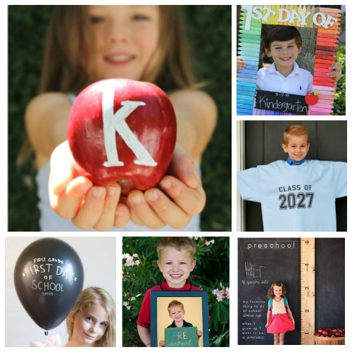 PHOTO IDEAS FOR BACK-TO-SCHOOL #backtoschool #photoideas firstdayofschool #firstdayofschoolsign