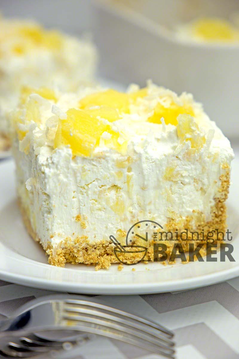 NO-BAKE PINEAPPLE CREAM DESSERT #nobake #pineapple #cream #dessert #dessertrecipes