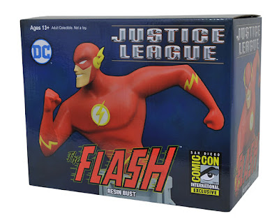 San Diego Comic-Con 2017 Exclusive JLA Animated Series The Flash Resin Busts by Diamond Select Toys