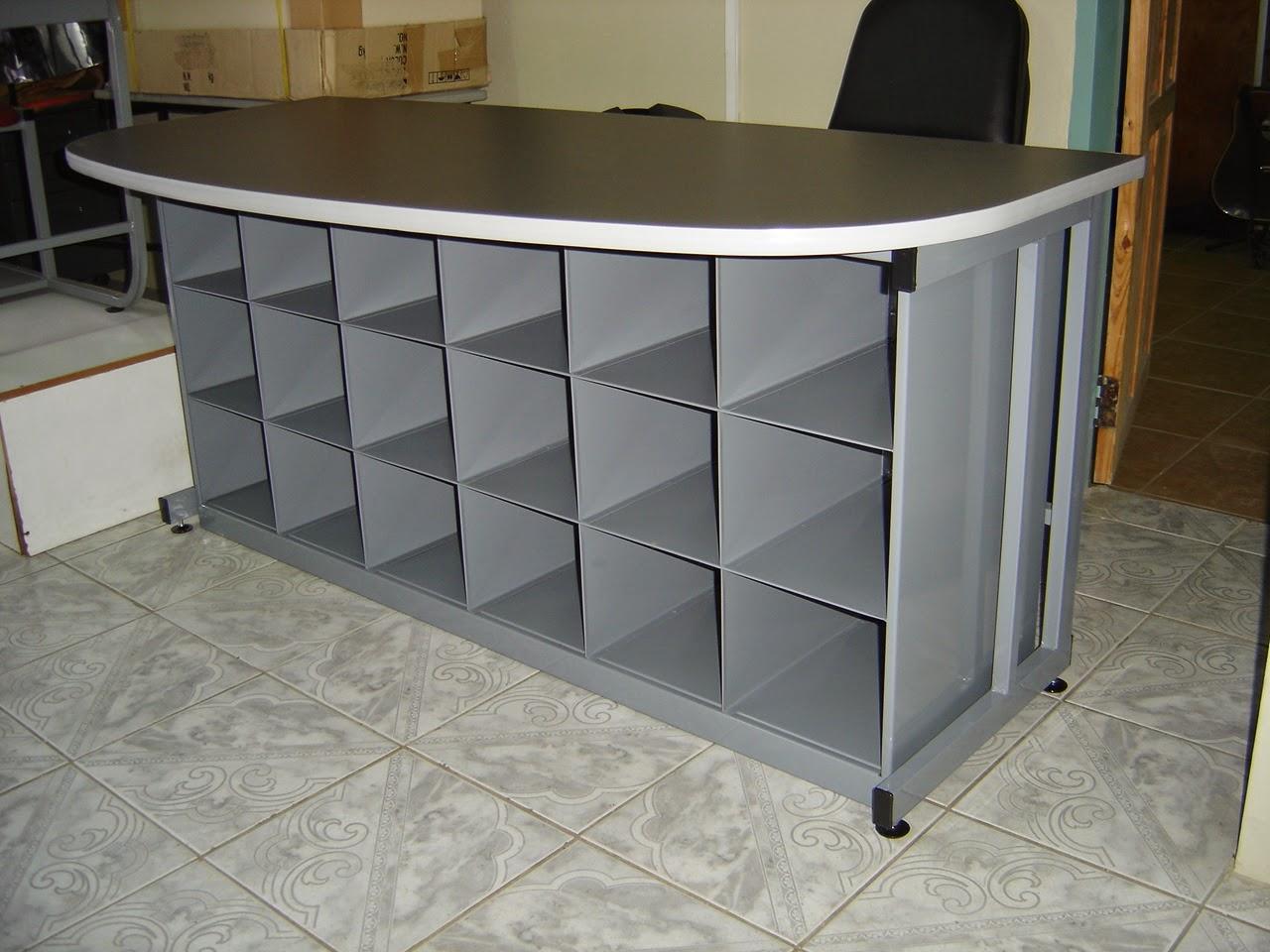 Customized Workstation With Cubby Holes