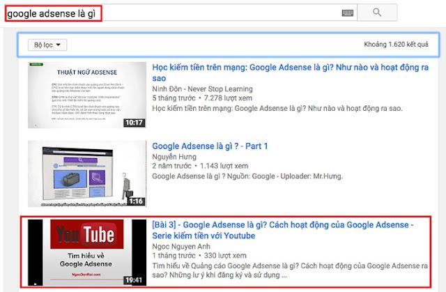 Hướng dẫn Seo video youtube lên Top 2