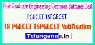 TS Telangana PGECET TSPGECET 2019 Notification Download