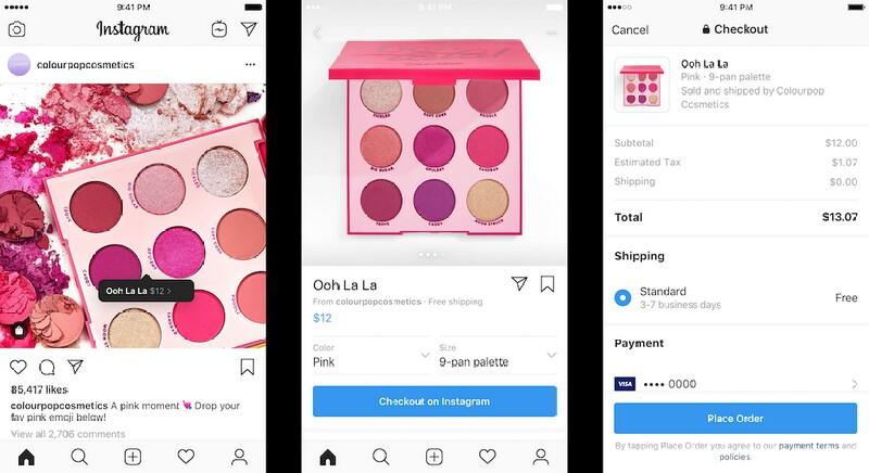 Contoh Checkout di Instagram