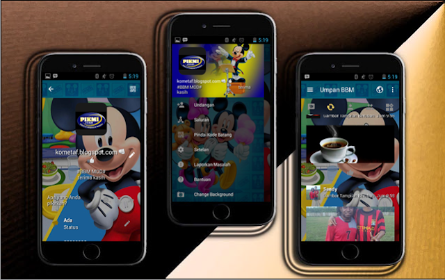 BBM Mickey Mouse Fun Apk v3.1.0.13 Mod Terbaru Update