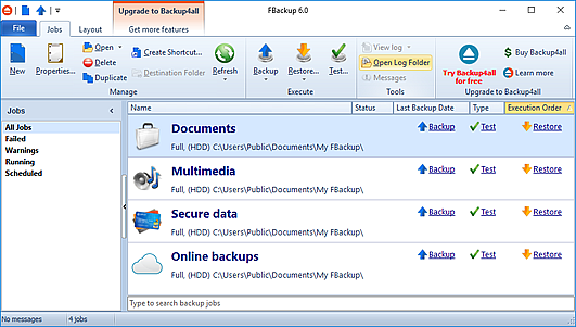 How to backup files
