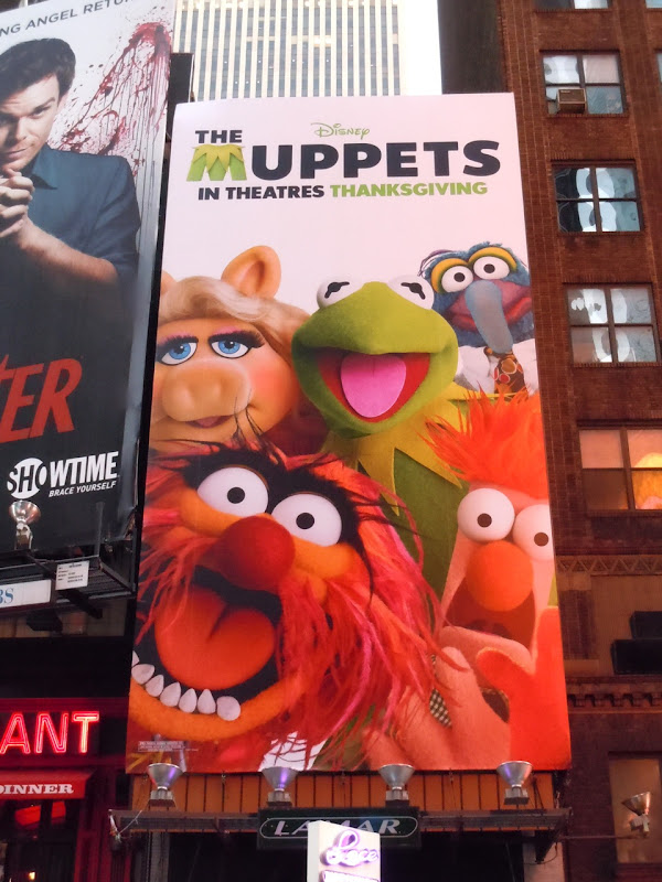 Muppets movie billboard