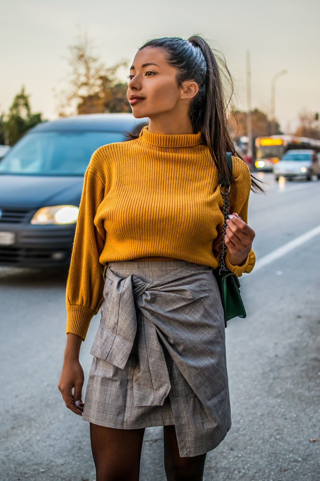 plaid skirt for winter